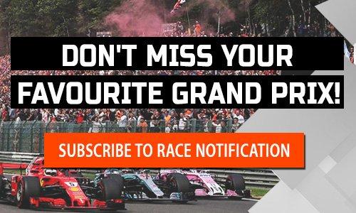 Formula 1 race notifier